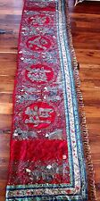 MUSEUM QUALITY ANTIQUE 19TH CENTURY CHINESE SILK EMBROIDERED BANNER 15FT X 31 IN