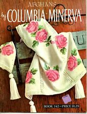 Afghans Knitting Pattern Book by Columbia - Minevra