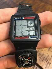 Vintage Casio AE-20W 50 Meter Mens Alarm Chrono Digital LCD Watch Nice!! Japan