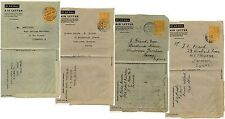 GOLD COAST AEROGRAMME STATIONERY 4 AIRLETTERS to GB KG6th 1949-51