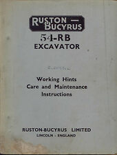 Ruston Bucyrus 54-RB Electric excavator working hints care and maintenance