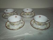 Lot of 4 Harmony House Fine China Wembley Tea Cups and Saucers EUC