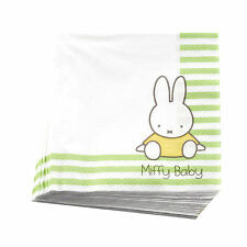 20 Miffy Paper Napkins Baby Shower Christening 1st First Birthday Celebration
