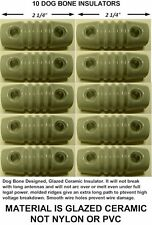 10 Dogbone Insulators For Dipole, Inverted V Antenna, Ham Radio, Shortwave