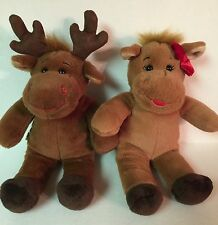 Build A Bear Small Hal And Holly Moose Christmas Plush