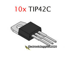 10x TIP42C Power Transistor Complementary PNP 100V 6A TO-220 - USA Fast Shipping