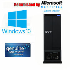 Windows 10 Pro, Acer Aspire x3950, Office 2010 Pro, Intel i3, 4gb di RAM