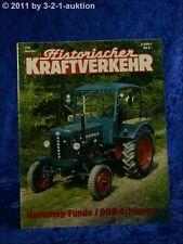 Historischer Kraftverkehr 3/91 Hanomag DDR Schlepper