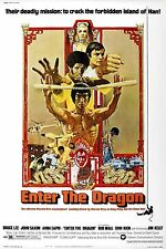 """ENTER THE DRAGON Silk Fabric Movie Poster 24""""x36"""" Kung-Fu Bruce Lee"""