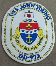 US Navy Decal / Sticker / USS John Young DD-973