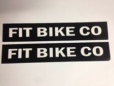 "TWO 8.5"" FIT BIKE CO Black BMX Street Bicycle Ride Race Car Frame Sticker Decal"