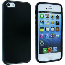 Black TPU Gummy Case Cover for iPhone 5 / 5S