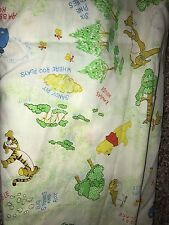2 Vintage Winnie The Pooh Crib Sheet Toddler Bed Sears Fabric