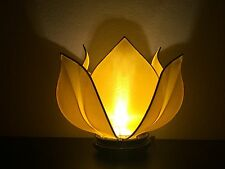 Lotus Table Lamp, Silk Lotus Lighting, Handmade Lotus Table Lamp,yellow lotus
