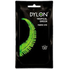 TROPICAL GREEN DYLON HAND WASH FABRIC CLOTHES DYE 50g TEXTILE PERMANENT COLOUR