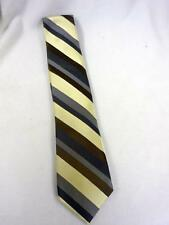 VTG CROFT & BARROW BROWN CREAM SILK STRIPED TIE 3 1/4 X 60