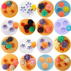 Flower Silicone Mould Clay Candy Cake Chocolate Mold Fondant 16 Styles Round