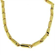 New Mens Luxury 24k Gold Plated Bar Link Chain Necklace Hip Hop Bling