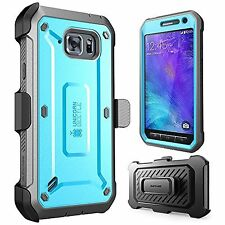 Samsung Galaxy S6 Active Blue BLK Case SUPCASE Unicorn Beetle Full-body Holster
