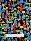 Pet Fabric - Rainbow Cats on Black C4217 - Timeless Treasures YARD