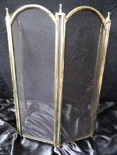 VINTAGE IN OTTONE ART DECO stile PANNELLO PIEGHEVOLE STAND Firescreen