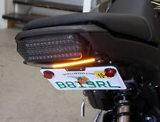 Honda Grom MSX125 SS Fender Eliminator Kit w/ Amber LED Turn Signal Light Bar; C