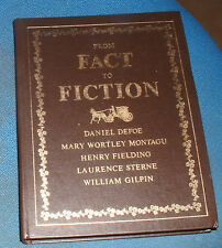 BOOK - FROM FACT TO FICTION ( Libro ) Defoe , Montagu Fielding , Sterne , Gilpin