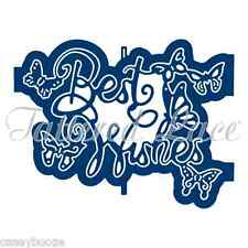 Tattered Lace Cutting Die - Ornamental Best Wishes - Butterflies - D1287 - New