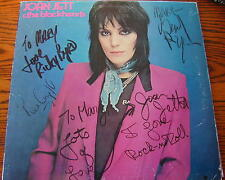 Joan Jett Signed by4 I love Rock and Roll Ricky Byrd Lee Crystal Gary Ryan Vinyl