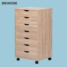Modern Office  File Cabinet Closet 7 Drawers Business Desk Furniture Storage New