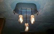Rustic/country Mason Jar Light Fixture ...wash tub