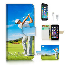 iPhone 7 (4.7') Flip Wallet Case Cover P2368 Golf