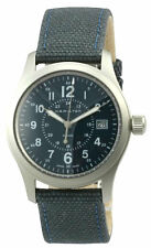 Hamilton Khaki Field 38MM Blue Dial Blue Canvass Men's Watch H68201943 New orig