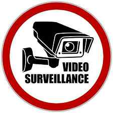 "Video Surveillance Security Sign Store Shop Window Vinyl Sticker Decal 4.5""X4.5"""