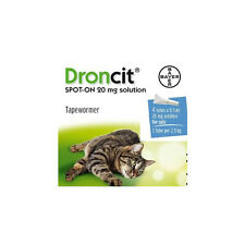 DRONCIT spot-on chat ténia traitement-pack de 4 tubes vermifuge