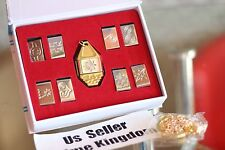 USA Seller Cosplay Digimon Adventure Tags & Crest Emblem Necklace 9PCS set & Box