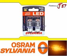 Sylvania ZEVO Led 7443 7443A Amber Orange Two Bulbs Signal Replace Upgrade Light