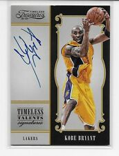 2012-13 TIMELESS TREASURES KOBE BRYANT TIMELESS TALENTS AUTO ON CARD SSP 94/99