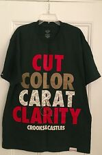 Authentic Crooks & Castles Diamond Supply Cut Color Carat Clarity Supreme rare