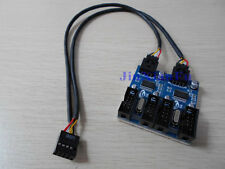 9-pin 9pin motherboard Header to 4x9-pin male Y-Spliter extension Adapter Cable