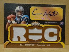 11 2011 Topps Triple Threads PIGSKIN Cam Newton JSY Patch Auto RC #'d 1/1 1 of 1