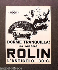 N502 - Advertising Pubblicità -1968- ROLIN , L'ANTIGELO AREXONS
