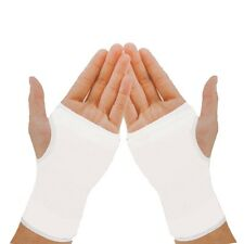 2 x Elastic White Palm Glove Left Right Hand Wrist Support Brace Sleeve One Size