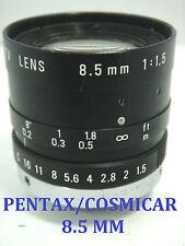 OBJETIVO TV - PENTAX/COSMICAR - LENS 8.5 MM 1,1/5 - 1:1,5 -ROSCA 25MM
