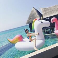DHL Giant Inflatable Unicorn Rainbow Pool Float Water Float 108'' Swimming Raft