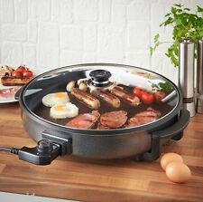 Multi Cooker Electric Frying Pan Steamer Cooking Casserole Cook Pot w/ Lid 42cm