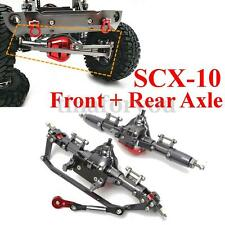 2pc Of CNC Aluminum Axle Front + Rear Rock Axle For AXIAL Honcho SCX10 1:10