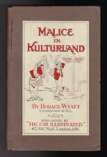 Horace Wyatt - Malice in Kulterland - 1st Ed 1914, Alice in Wonderland Parody
