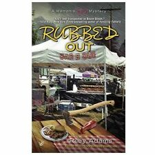 "A Memphis BBQ Mystery ""Rubbed Out"" by Riley Adams, Paperback Book 2013"