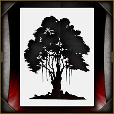 Oak Tree 1 -  Airbrush Stencil Template Airsick